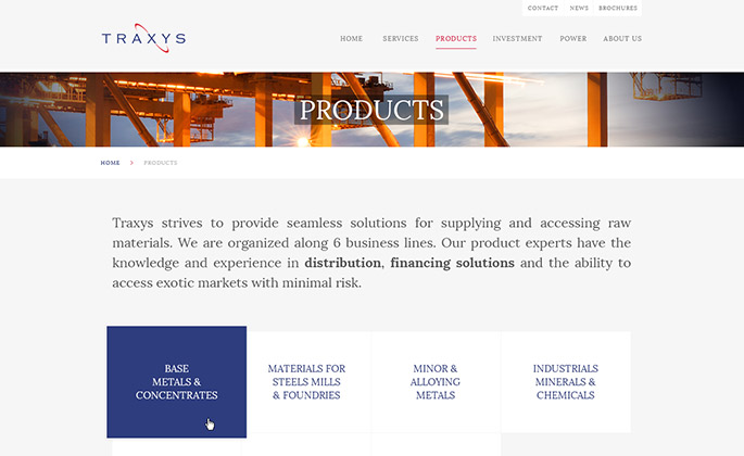 Traxys website